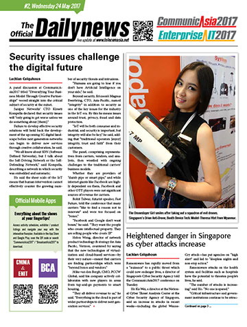 CommunicAsia Show Daily Newspaper Day 2, May 24