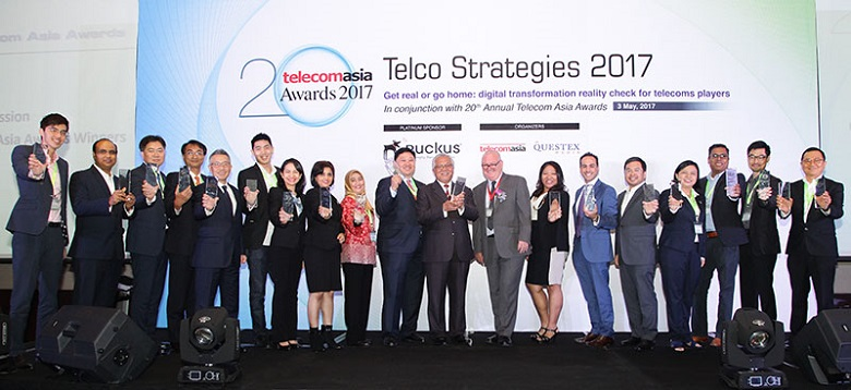 Telecom Asia Awards 2017 winners group photo