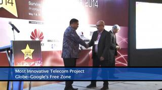 Embedded thumbnail for Telecom Asia Awards ceremony 2014