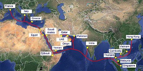 17 Telcos To Build Asia Africa Europe Cable Telecom Asia